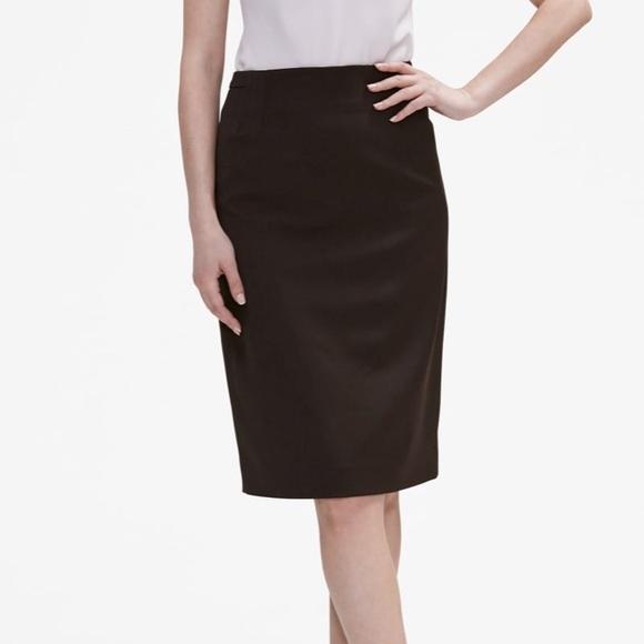 25cfd72017 MM Lafleur Skirts | Chocolate Brown Pencil Skirt Nwt | Poshmark
